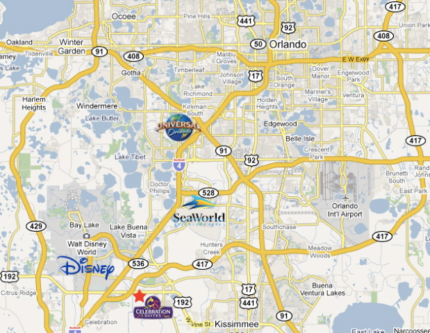 Celebration Suites Location Amp Map