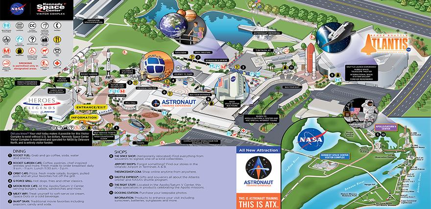 nasa kennedy center in florida map - photo #23