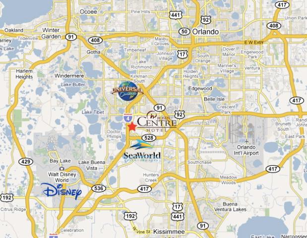 9840 International Dr Orlando Florida 32819 Map Location Of Rosen Centre Resort