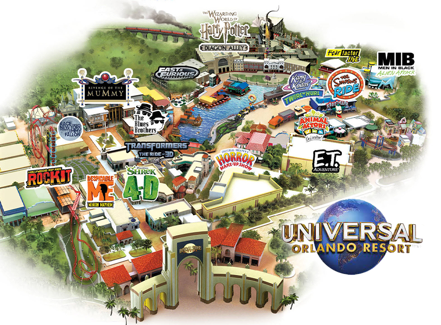 Universal Studio Hollywood Map Map of Universal Studios