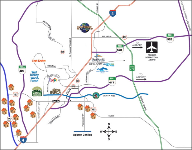 Map Of Orlando Theme Parks Orlando Vacation Homes Location & Map Map Of Orlando Theme Parks