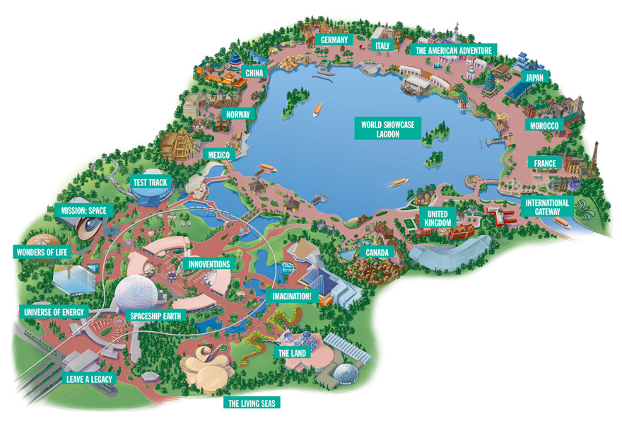 Epcot Map at Disney World