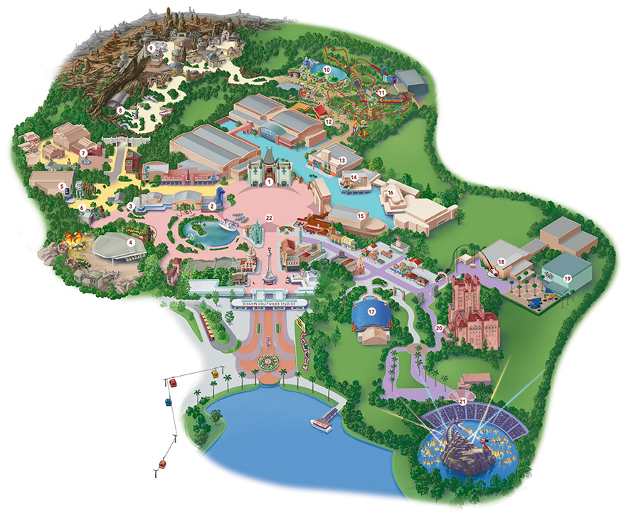 Disney Hollywood Studios Map Pdf